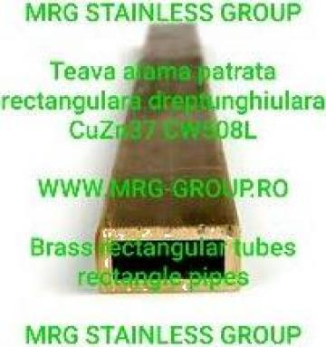 Teava alama 20x15 rectangulara dreptunghiulara CW508L CuZn37 de la MRG Stainless Group Srl
