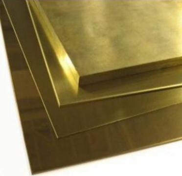 Tabla de alama 4x1000x2000mm aplicatii decorative CuZn37 de la MRG Stainless Group Srl