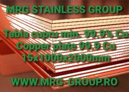 Placa cupru 15mm tabla cupru 15mm Copper plate 15mm Alama de la MRG Stainless Group Srl
