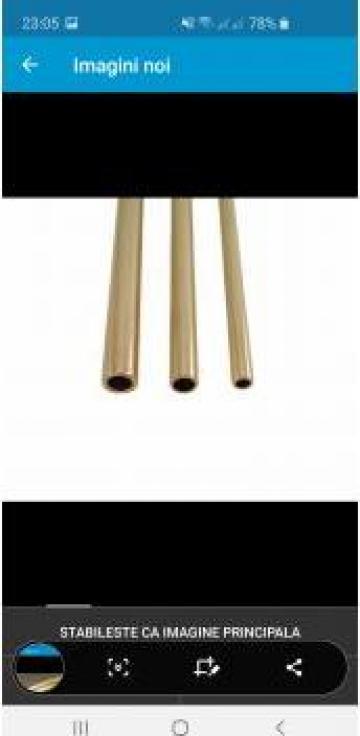 Teava alama 20x1mm rotunda tub conducta CuZn37 aluminiu inox de la MRG Stainless Group Srl