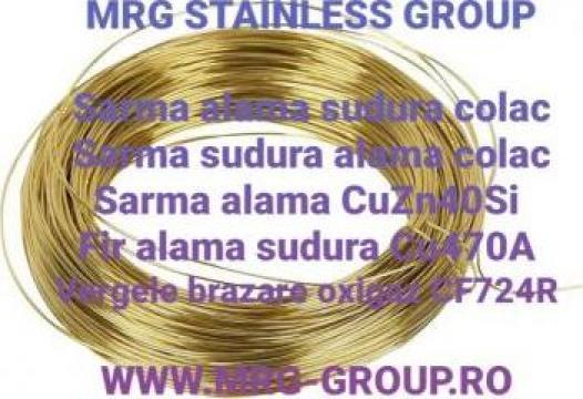 Sarma sudura alama 2.5mm CuZn40Si CF724R Cu470A brazare