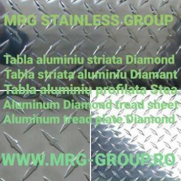 Tabla aluminiu striata Stea 1.5mm diamant diamond Stucco