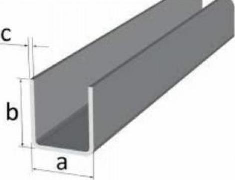 Profil U aluminiu 50x50x50x4mm
