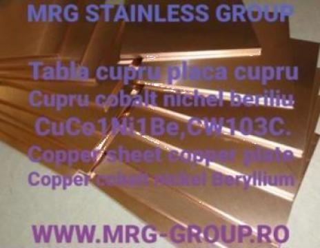 Tabla cupru CuCo1Ni1Be CW103C de la MRG Stainless Group Srl