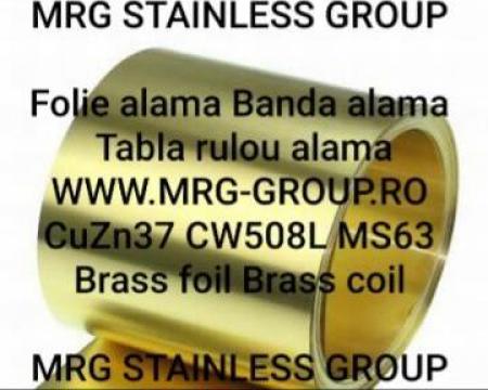 Banda alama CuZn37 0.3x280mm, banda aluminiu, cupru, inox de la MRG Stainless Group Srl