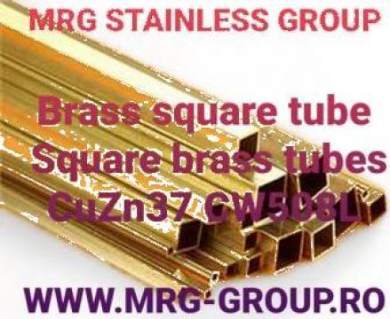 Teava alama patrata 5x5x1mm, teava alama rectangulara Brass de la MRG Stainless Group Srl