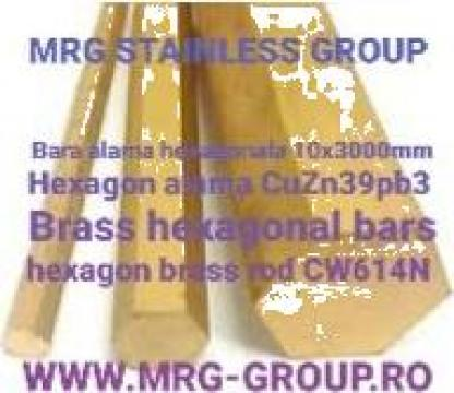 Bara alama hexagonala 10mm, hexagon brass
