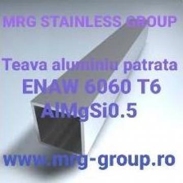 Teava aluminiu patrata 30x30x2mm, teava rectangulara inox