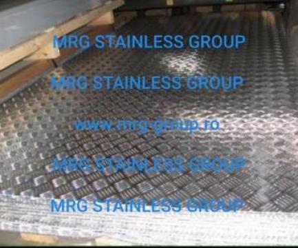 Tabla aluminiu striata Quintet 5bare 2.5x1250x2500mm inox de la MRG Stainless Group Srl