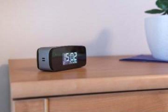 Ceas mic digital Secutek SAH-IP006 cu camera WiFi ascunsa