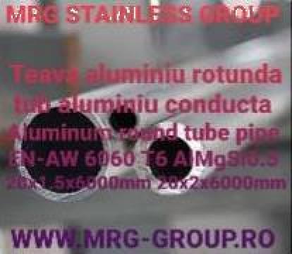 Teava aluminiu rotunda 20mm de la MRG Stainless Group Srl