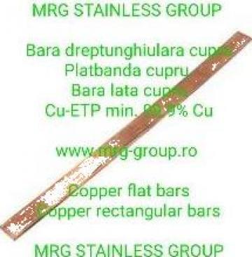 Platbanda cupru 20x10mm Cu-ETP 99.9% cu bara dreptunghiulara de la MRG Stainless Group Srl
