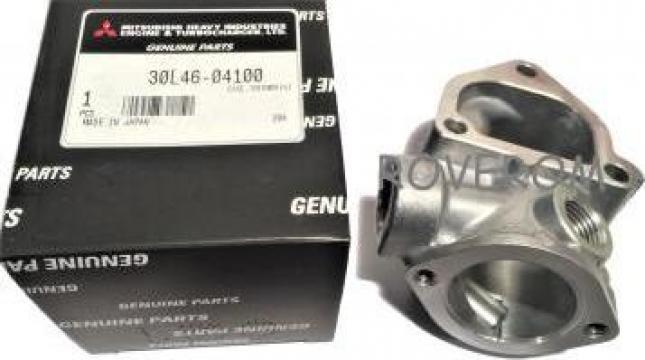 Carcasa termostat Mitsubishi L2E, L3E, Volvo, Terex, Hanix de la Roverom Srl