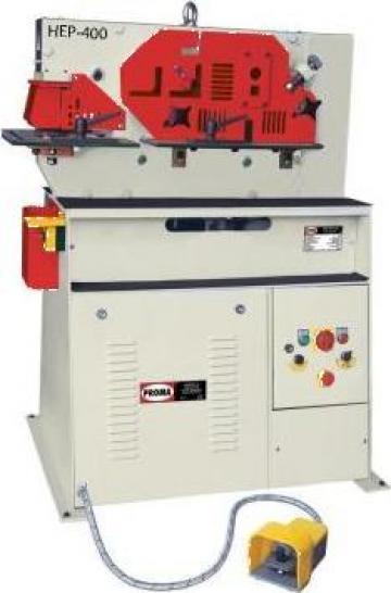 Foarfeca combinata pentru metal HEP-400 de la Proma Machinery Srl.