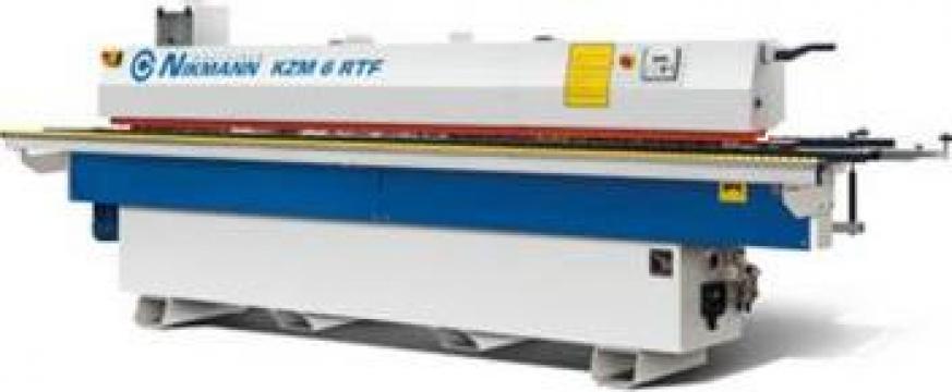 Masina stationara pentru aplicat cant Nikmann KZM 6RTF de la Proma Machinery Srl.