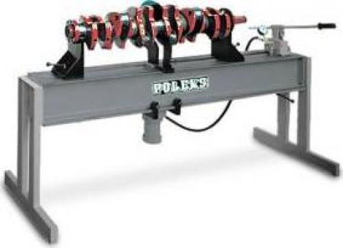 Presa pentru controlul si indreptarea arborelui cotit P 100 de la Proma Machinery Srl.