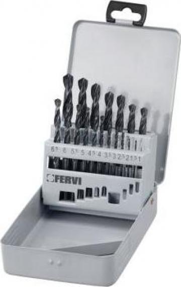 Set burghie cu coada cilindrica DIN 338 N - HSS 118 P045 de la Proma Machinery Srl.