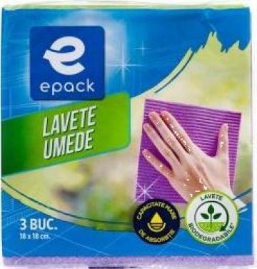 Lavete umede biodegradabile Epack 18x18cm 5 buc/set de la Cristian Food Industry Srl.