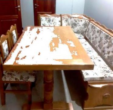 Set coltar, masa, 2 scaune de bucatarie L11
