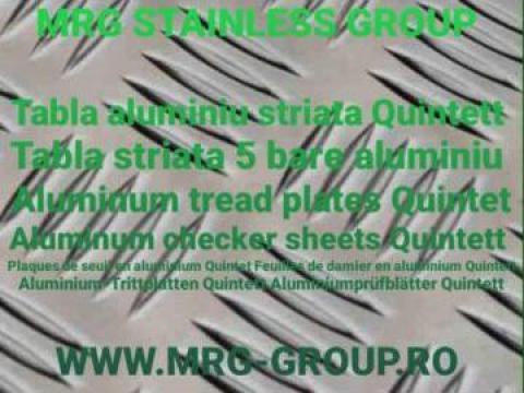 Tabla aluminiu striata Quintett 2.5x1500x3000 de la MRG Stainless Group Srl