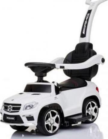Jucarie carut 3 in 1 Mercedes GL63 AMG echipata Premium alb