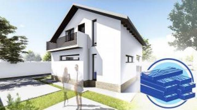 Constructie casa lemn parter + mansarda (110 mp) - Allena de la S.C. Specific Urban SRL