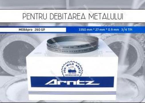 Panza banda fierastrau panglica MEBApro 260 GP bimetal de la Panze Panglica Srl