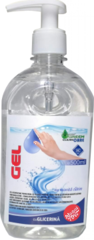 Dezinfectant pentru maini gel, PET 0.5l + pompita de la Sc New Design Comsposite Srl