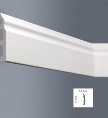 Plinta decorativa polimer dur - 110 x 14 mm de la Demacs Kasa Srl