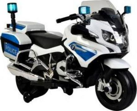 Motocicleta electrica Kinderauto Police BMW R1200 cu roti MO