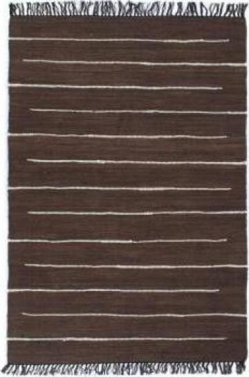 Covor Chindi tesut manual, maro, 120 x 170 cm, bumbac de la Vidaxl