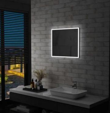 Oglinda cu LED de perete pentru baie, 60 x 50 cm