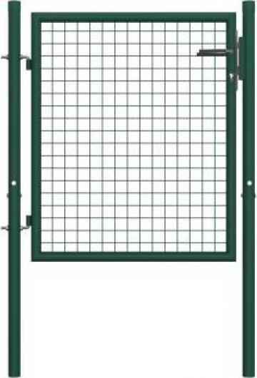 Poarta de gard, verde, 100 x 75 cm, otel