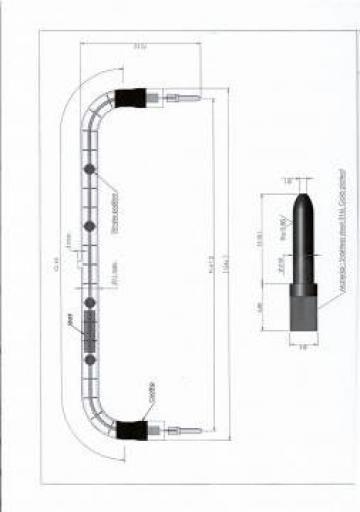 Lampa cu infrarosu JHU 400V 2500W U1 de la Sfera Global Trading Srl