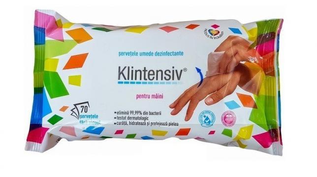 Servetele dezinfectante pentru maini Klintensiv - 70 buc de la Medaz Life Consum Srl