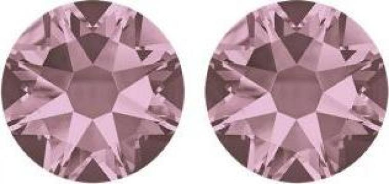 Cercei argint 925 si swarovski Crystal Antique Pink