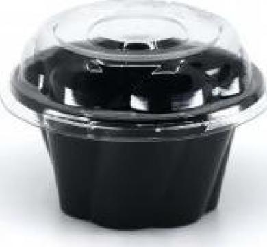 Caserola neagra inghetata 250cc+capac 100 buc de la Cristian Food Industry Srl.