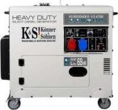Generator de curent trifazat diesel insonorizat 6,5 kw de la Magazin-scule.ro