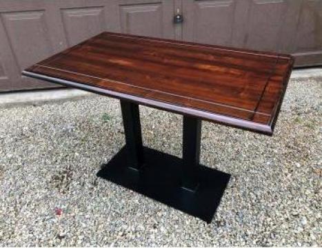 Masa/mese duble cu picior/baza metalica bar, bistro, horeca de la Sc Interior Wood Stil Srl