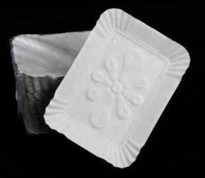 Tavite albe prajituri T8 (17x21cm) 100 buc/set de la Cristian Food Industry Srl.