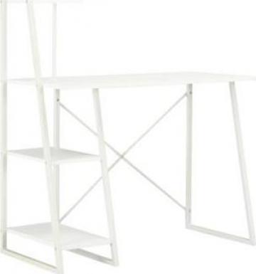 Birou cu rafturi, alb, 102 x 50 x 117 cm