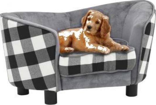 Canapea pentru caini, gri, 68 x 38 x 38 cm, plus de la Vidaxl