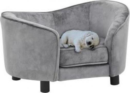 Canapea pentru caini, gri, 69 x 49 x 40 cm, plus de la Vidaxl