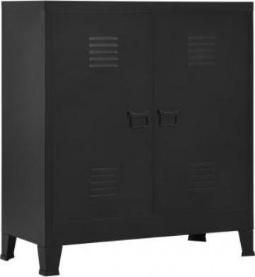 Fiset, negru, 90 x 40 x 100 cm, otel, industrial de la Vidaxl