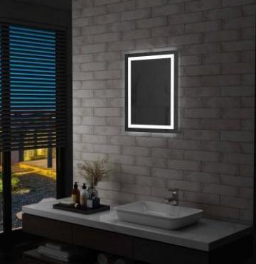 Oglinda cu LED de baie cu senzor tactil, 50 x 60 cm