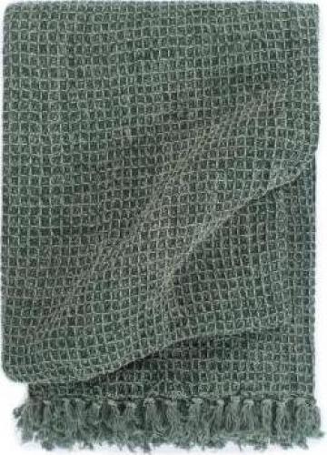 Patura decorativa, verde inchis, 125 x 150 cm, bumbac de la Vidaxl