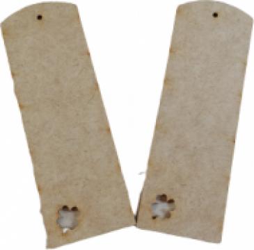 Baza lemn semn de carte, cu trifoi, set 2 bucati, 15x5 cm