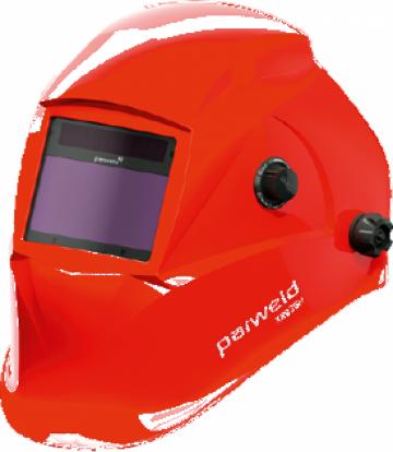 Masca sudor de cap automata cu celule foto rosie Parweld de la Sudometal Srl