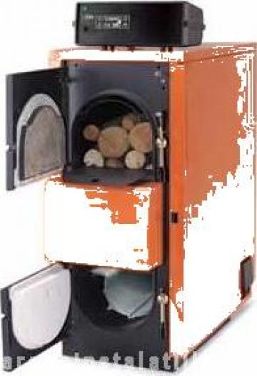 Cazan lemne gazeificare Fuego FU45 R inox de la PFA Chivaru Corneliu