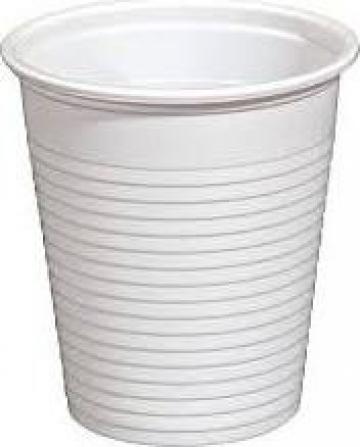Pahare albe plastic 200ml de la Cosept Srl